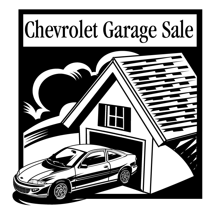 free vector Chevrolet garage sale