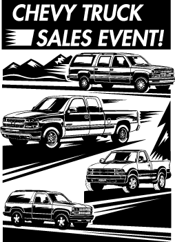 free vector Chevrolet Truck Sales Event