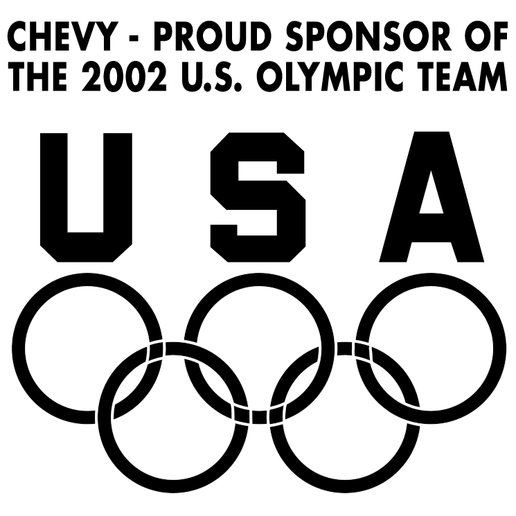 free vector Chevy sponsor of olympic team