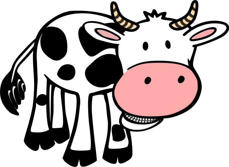 free vector Chewing cow