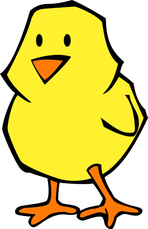 free vector Chick flat colors