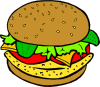 free vector Chicken Burger clip art
