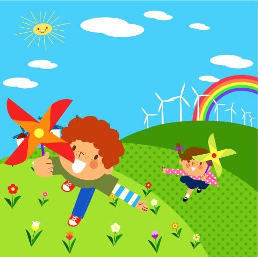 free vector Children environment vector 7