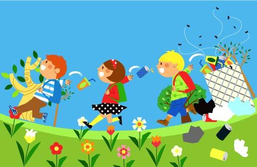 free vector Children environment vector 8