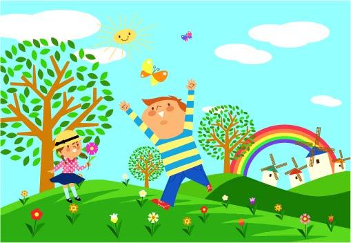 free vector Children environmental vector 1