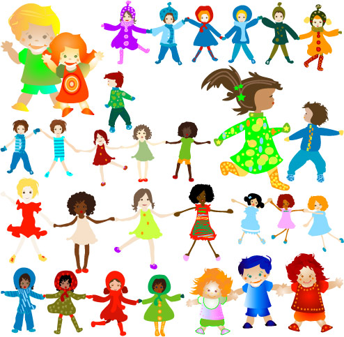 free vector Children vector