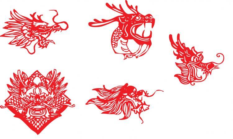 free vector China leading papercut vector