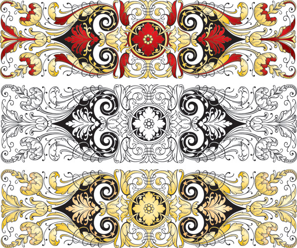 Chinese Patterns Vector Chinese Classical Pattern