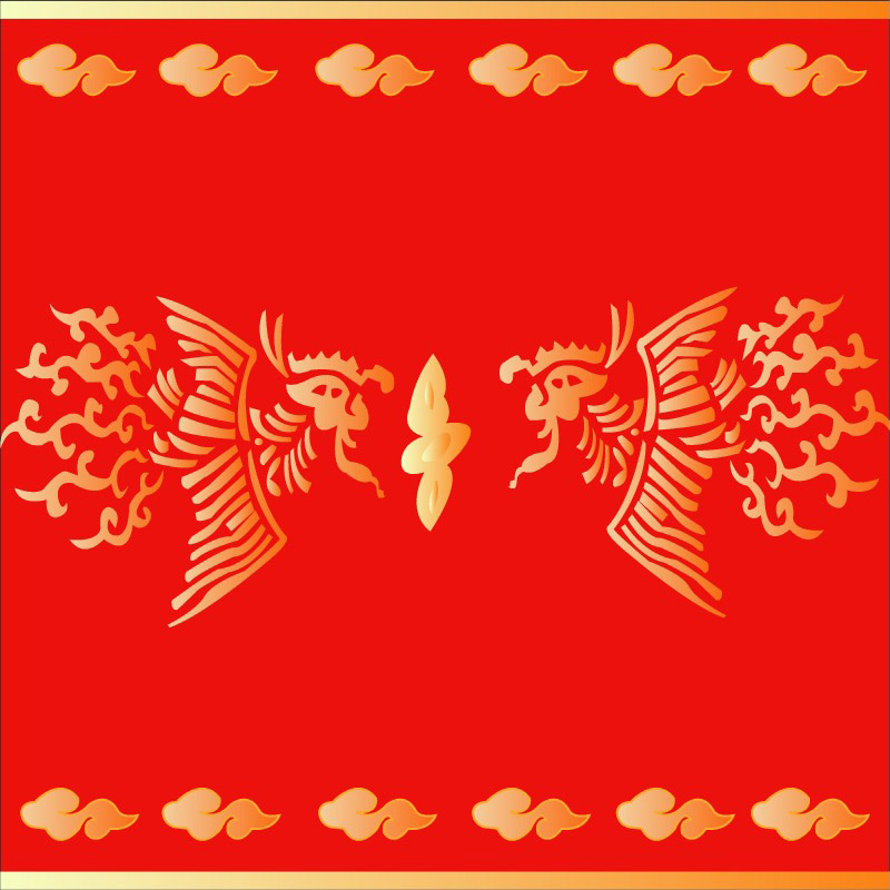 free vector Chinese classical pattern vector phoenix abstract