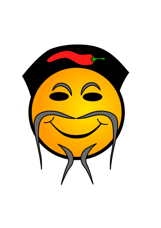 free vector Chinese Cook Smiley
