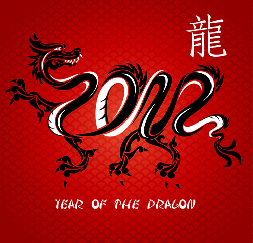 free vector Chinese dragon background vector