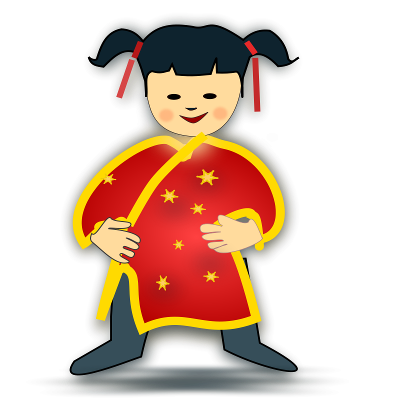 free vector Chinese girl icon