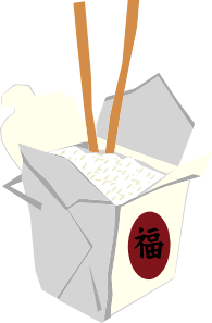 free vector Chinese Take Out Box clip art