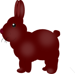free vector Chocolate Bunny clip art