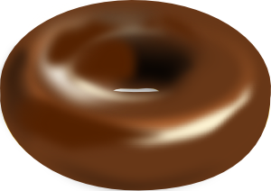 free vector Chocolate Donut clip art