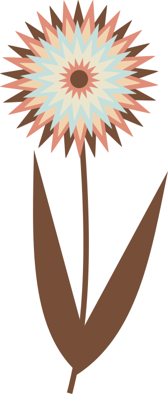 free vector Chocolate Flower
