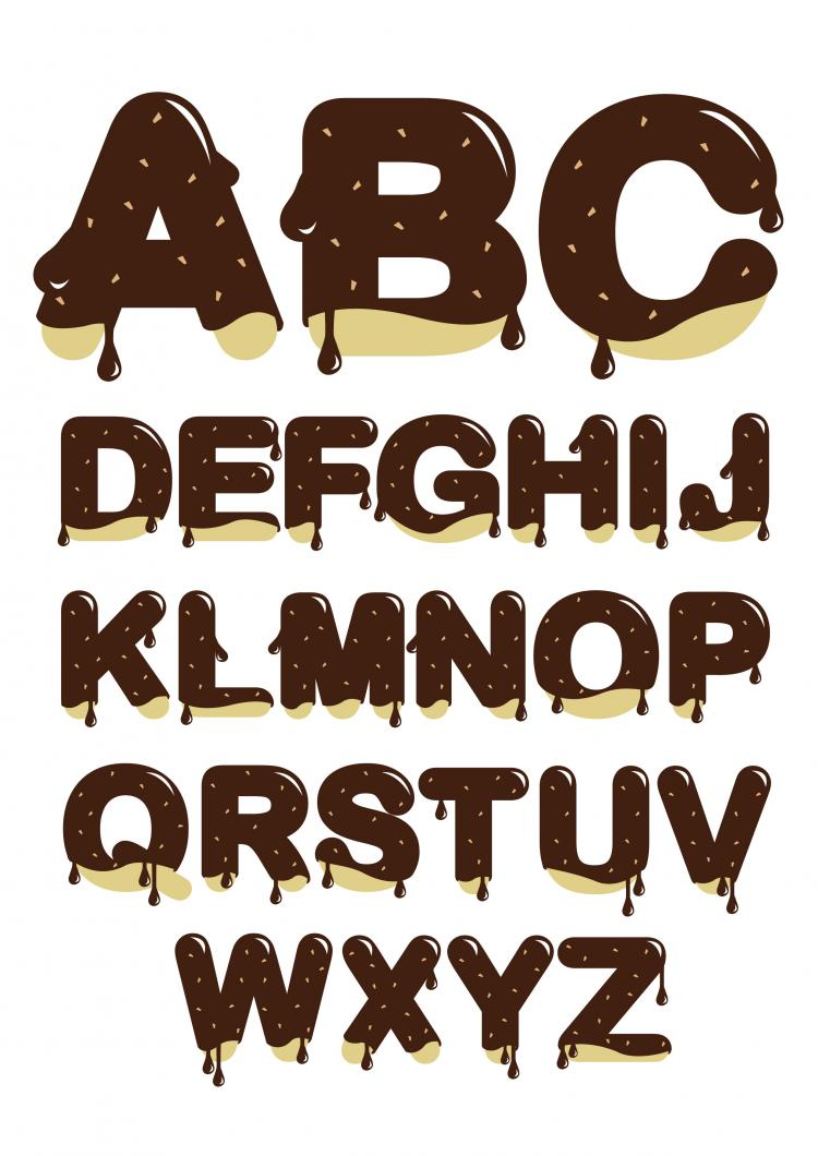 free vector Chocolate letters vector