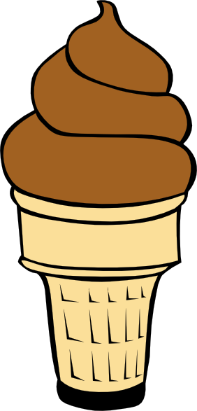 free vector Chocolate Soft Serve Ice Cream Cone clip art