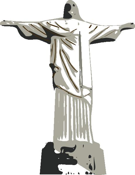 free vector Christ The Redeemer Statue clip art