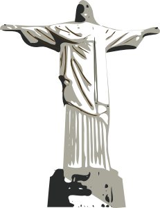 free vector Christ The Redeemer Statue clip art