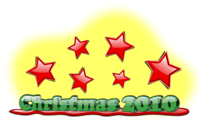 free vector Christmas 2010 Text