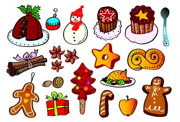 free vector Christmas a group of vector elements vector