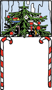 free vector Christmas Arch clip art