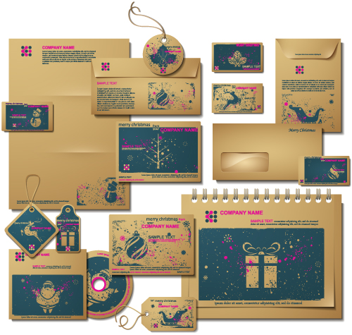 free vector Christmas around the product 04 vector
