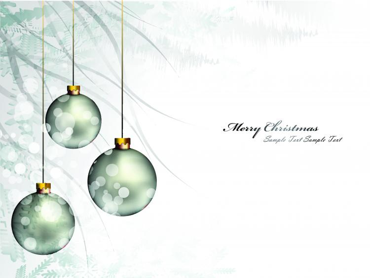 free vector Christmas background ball beautiful 01 vector