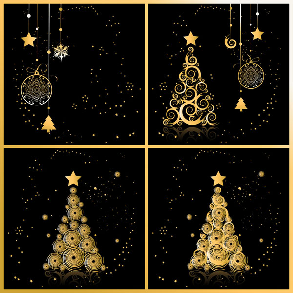 free vector Christmas background with snowflakes ornaments vector