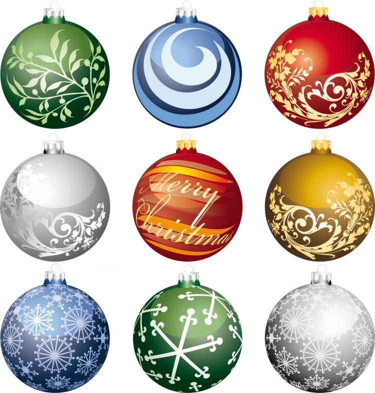 Christmas ball 2 vector free vector 4vector for Design ornaments
