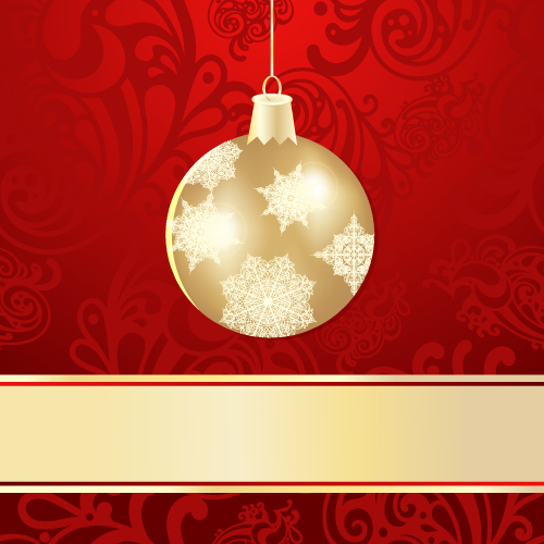 free vector Christmas ball background 01 vector