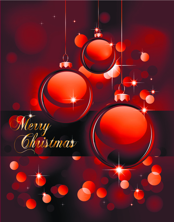 free vector Christmas ball background vector