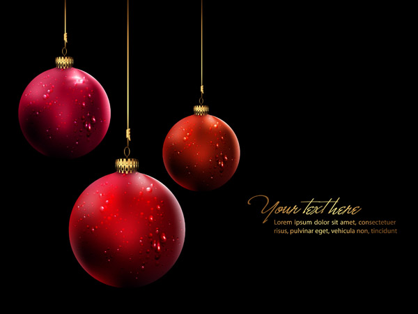 free vector Christmas ball hanging crystal style vector 3