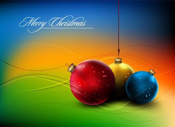 free vector Christmas ball hanging crystal style vector 5