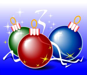 free vector Christmas Balls clip art