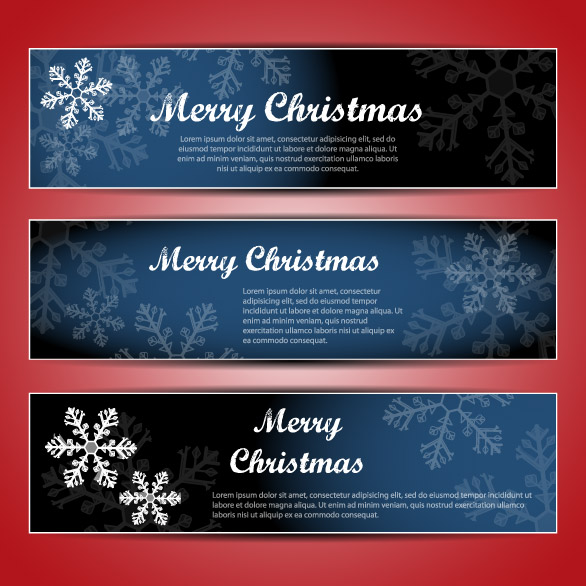 free vector Christmas banners 02 vector