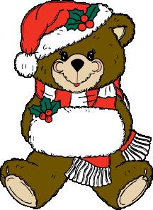 free vector Christmas Bear clip art