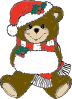 free vector Christmas Bear clip art