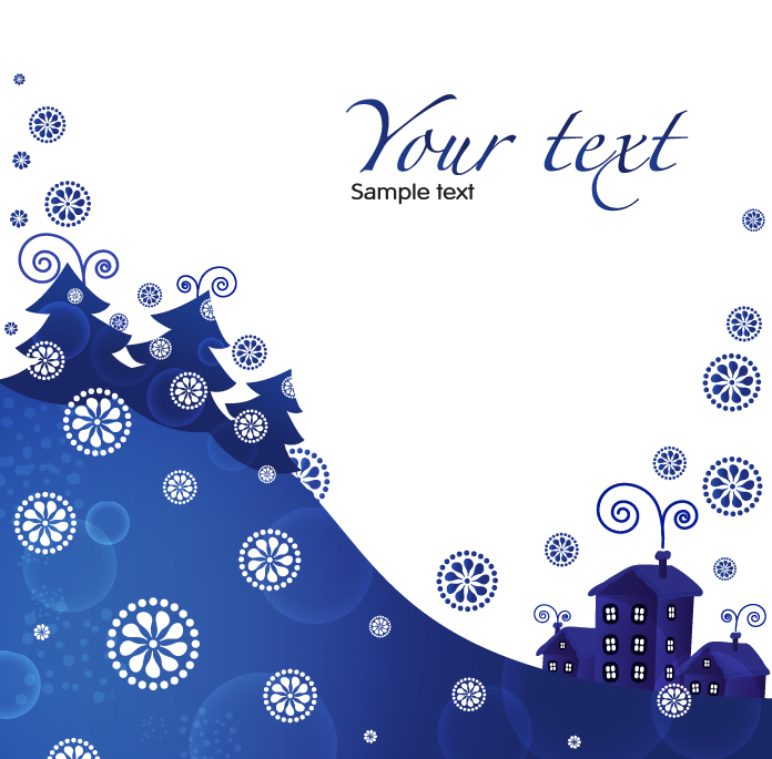 free vector Christmas blue background 01 vector