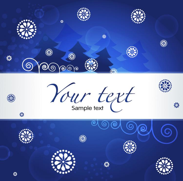 free vector Christmas blue background 03 vector