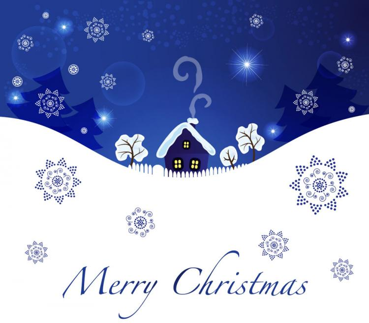 free vector Christmas blue background 04 vector