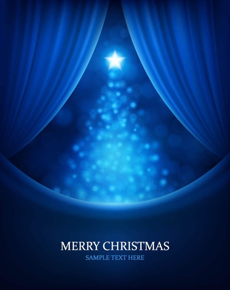 free vector Christmas bright background 02 vector