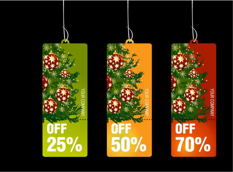 free vector Christmas business promotional template vector