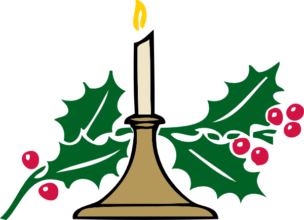free vector Christmas Candle clip art