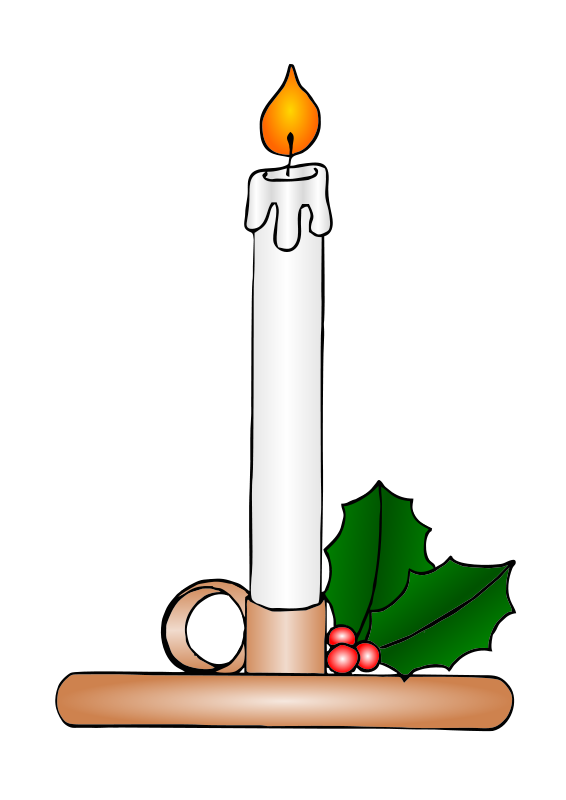 free vector Christmas Candle