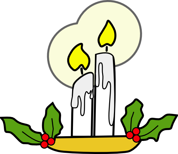 free vector Christmas Candles clip art