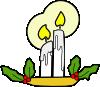 free vector Christmas Candles clip art
