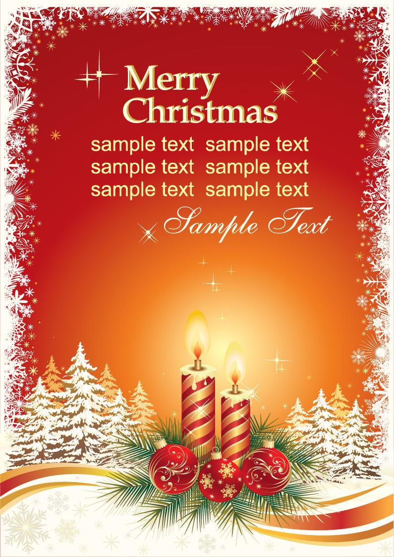 christmas card vector template vector vector christmas card vector template vector
