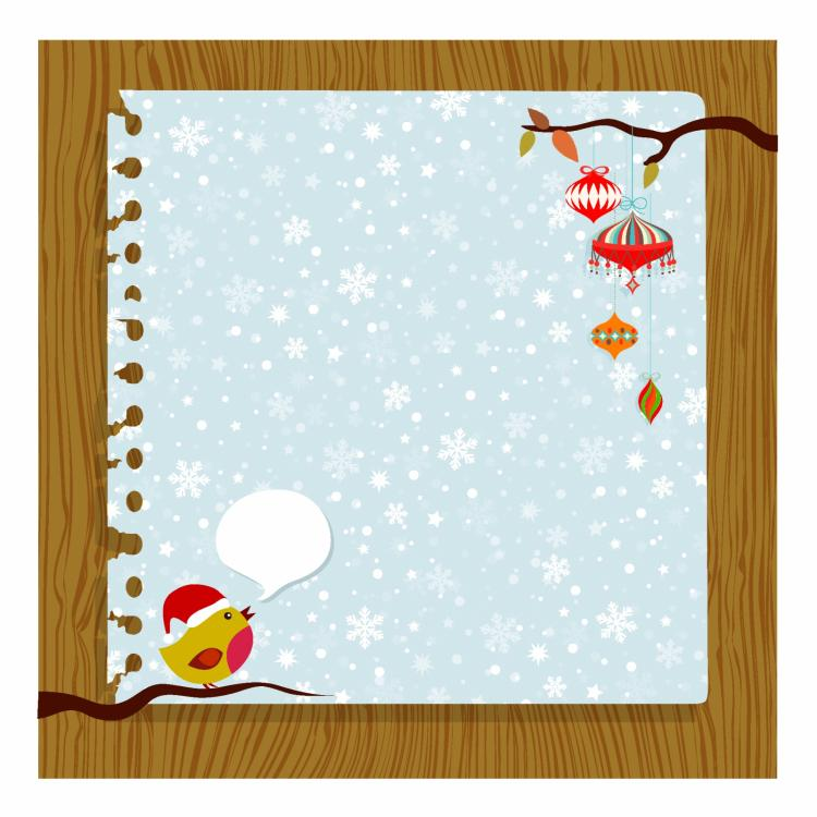 free vector Christmas card